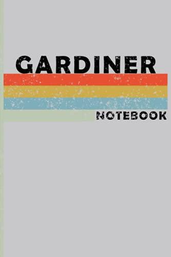 GARDINER City Vintage Style: GARDINER Notebook Journal Gift;Vintage Retro Design; Notebook Planner - 6x9 inch Daily Planner Journal, To Do List Notebook, Daily Organizer, 120 Pages