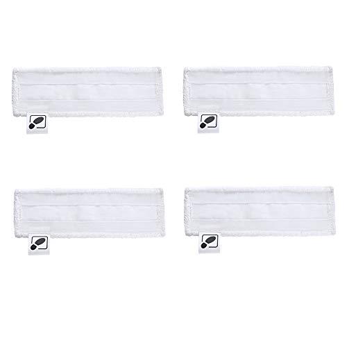 DEYF Lot de 4 serviettes en microfibre pour nettoyeur vapeur Kärcher SC2, SC 3, SC4, SC5