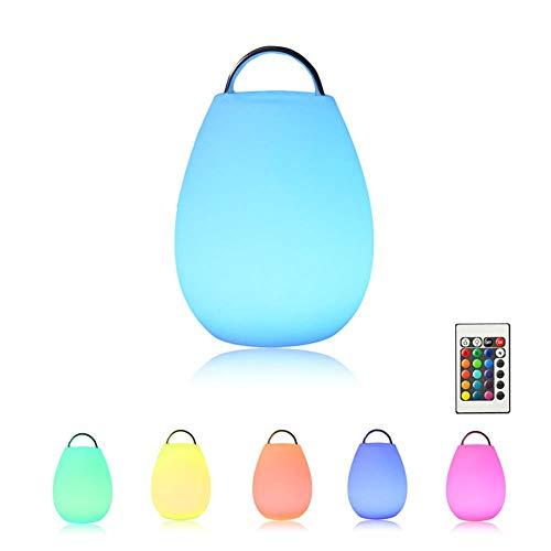 MAGICE Veilleuse décorative à LED avec télécommande   Matériau PE écologique Portable Lampe d'ambiance créative pour Bar de Restaurant - Couleurs RVB,0.5W