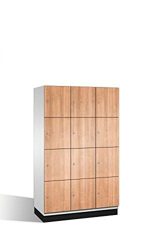 Preisvergleich Produktbild Fächerschrank Cambio auf Sockel,  12 Fächer,  H1950xB1200xT525mm