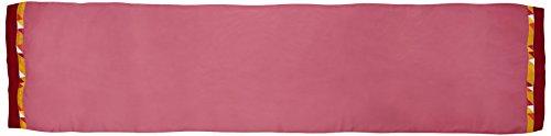 Essix x Bensimon - Taie de traversin Toi & Moi Géo Percale de Coton Rose 43 x 190 cm