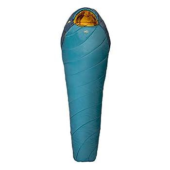 Millet - Baikal 1100 Reg - Sac de Couchage Adulte avec Sac de Compression ? Synthétique ? Équipement Outdoor 3 Saisons (Confort 5°C) - Longueur : 215 cm - Bleu