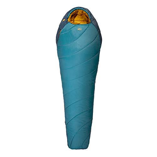 Millet - Baikal 1100 Reg - Sac de Couchage Adulte avec Sac de Compression – Synthétique – Équipement Outdoor 3 Saisons (Confort 5°C) - Longueur : 215 cm - Bleu