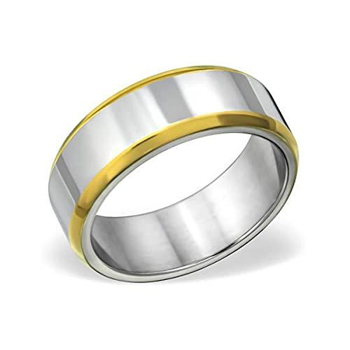 Amanto Anillo Ake 66, acero 316L, 8 mm, talla 66-21 mm