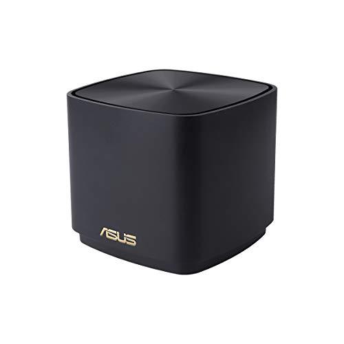 ASUS ZenWifi AX Mini (XD4) Système réseau réseau Wi-FI 6 AX1800 (Couvre jusqu'à 200 m2, Installation Simple, Fonctions de sécurité et Commandes parentales) Noir