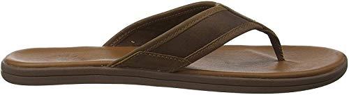 UGG Herren Seaside Flip Leather Sandale, Luggage, 44 EU