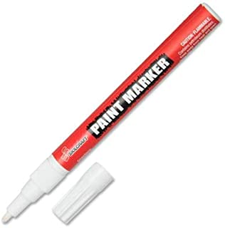 SKILCRAFT 7520-01-207-4159 Fine Point Paint Marker, White (Pack of 12)