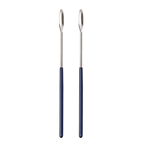 Aozita 2 Pack Lab Spatula - Micro Lab Spoon/Scoop with Nickel-Stainless Blade - Also Great Filler