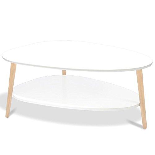 IDMarket - Table Basse gigogne Elsie Blanc