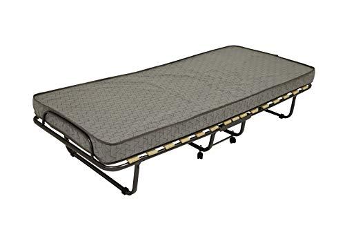 Veraflex Klappbett mit Matratze Luxor 80x200cm Gästebett Klappbar Gästeliege Raumsparbett (Grau)