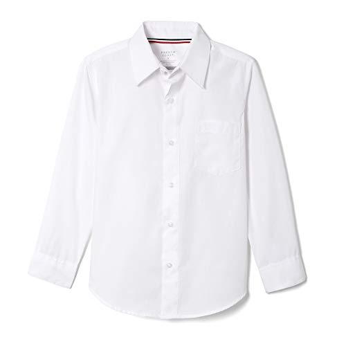 French Toast Boys' Long Sleeve Classic Dress Shirt (Standard & Husky), White, 7