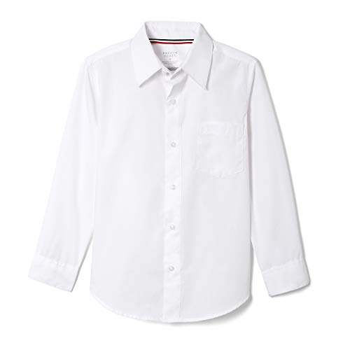 French Toast Boys' Long Sleeve Classic Dress Shirt (Standard & Husky), White, 6