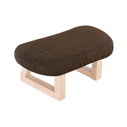 Jiax Opbergkruk van massief hout, creatieve retro-bank, kleine beginners, kleding voor volwassenen, schoenen, sofa, schoenen, kruk van stof