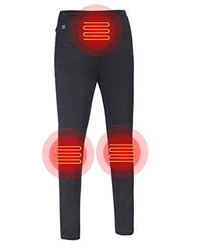 iMixCity Leichte Isolierte Beheizte Hosen,USB Smart Thermostat Kohlefaser Elektrische Heizhose Schlanke Hose für Outdoor Reisen Motorsport Radfahren Skifahren