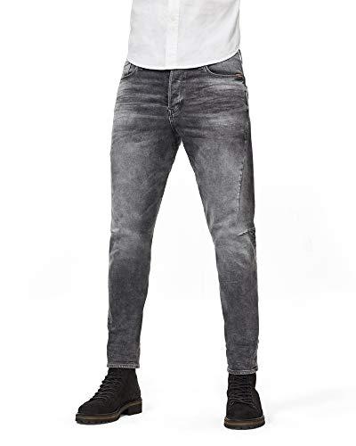 G-STAR RAW Herren Scutar 3D Slim Tapered Jeans, Grau (Vintage Basalt C293-B168), 33W / 34L