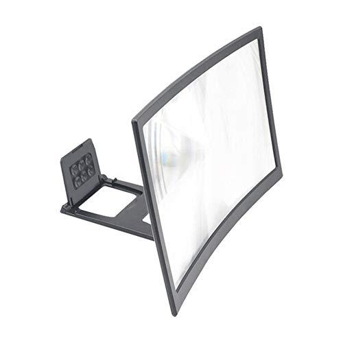 MZY1188 Lupa de Pantalla de 12 '', Amplificador de Video 3D Soporte de Soporte de Pantalla Curva HD Lupa de Pantalla de teléfono móvil