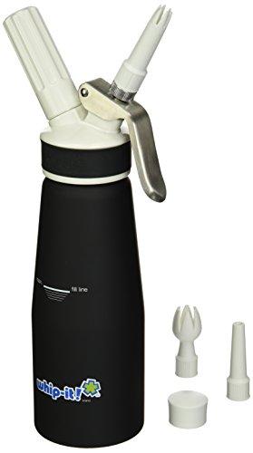 Whip-It. Pro–Dispensador de nata 1/2L revestida de hule, color negro