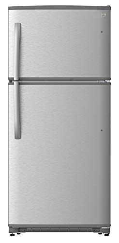 """Kenmore 30"""" Top-Freezer Refrigerator with 18 Cubic Ft. Total Capacity, Stainless Steel"""