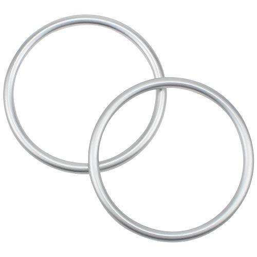 DXLing 2 Stück Aluminium Baby Sling Ringe Babytrageringe Sling Ring Tragetuch Tragbar Sling Ringe Babytragetücher Ringe Zubehör für Kleinkinder(Innendurchmesser 7,6 cm)