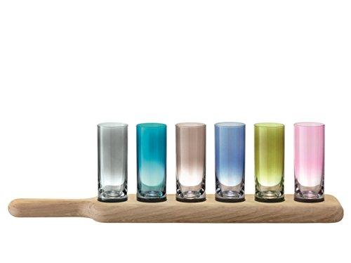 LSA International - Set di 6 bicchieri da liquore LSA Paddle