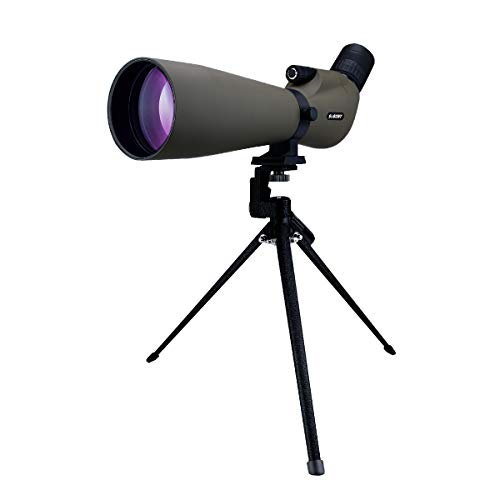 SVBONY SV401 Spotting Scope 20-60x80 with Tripod for Target Shooting Angled IPX6 Waterproof Portable for Bird Watching Archery Range with Carrying Bag