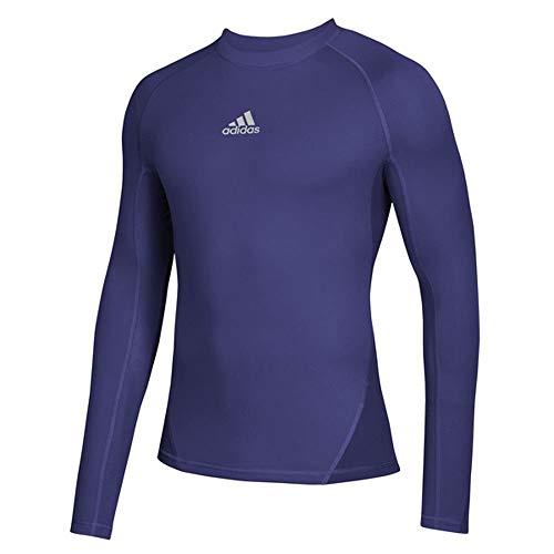 adidas AlphaSkin - Camiseta de manga larga para hombre (talla XXXL), color morado