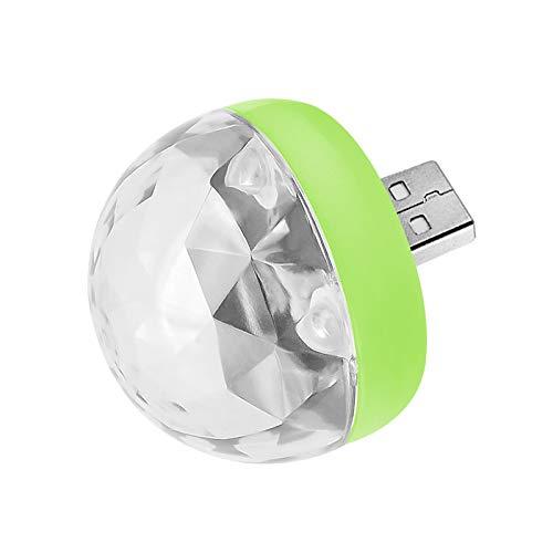 chtdz Mini Portable USB Escenario Luces de Discoteca Bola mágica luz para familias Party Club Trabajo con móvil