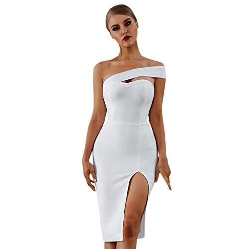 QingJiu 2020 Frühjahr und Sommer Neue Frauen Trägerlosen Schlanken Abendkleid Rock Elegante Einfarbige Split Mini-Kleid