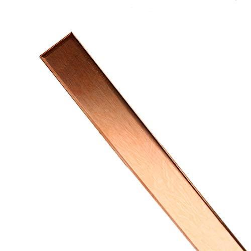 caihv-Lámina de Metal Barra de Cobre de la Hoja de Metal T2 CU de la Tira de Cobre Barra de Cobre Puro for la Placa de Circuito del Kit de PCB CNC DIY 1.5mm * 10mm * 250mm, Hoja Pura
