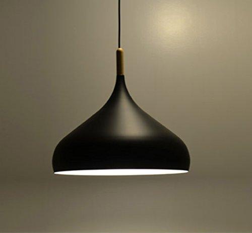Retro Industriel Lumière Vintage abat-jour Nordique Simplicité Pendentif Lampe Suspendue E27 Métal Aluminium Lustres Style A Noir (pas d'ampoule)