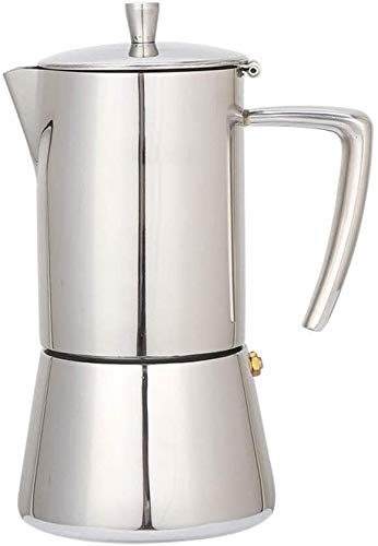 Read About 300ML Coffee Pot 6-Cup Stainless Steel Stovetop Moka Espresso Maker Percolator Moka Pot W...
