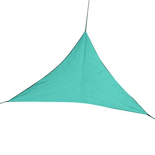 Shyymaoyi Toldo de vela triángulo, cubierta superior resistente para patio jardín exterior, Verde oscuro 6 x 6 x 6 m.