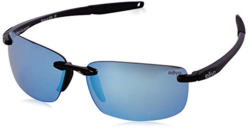 Revo - DESCEND N RE 4059, Sportbrille, Metall, Herrenbrillen, BLACK/BLUE WATER SERILIUM POLARIZED MIRROR(01/BL A), 64/12/139