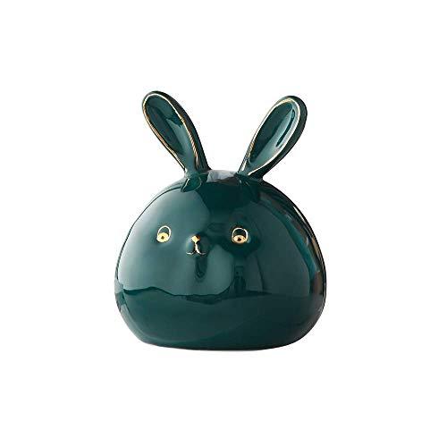 Se Puede Acceder a la alcancía para niños La cerámica de Conejo se Puede Utilizar como decoración para la habitación de los niños, el Dormitorio, la mesita de Noche, el Escritorio,