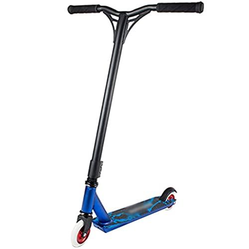 Patinete Stunt Scooter Robustos Scooters De Truco con Manillar Y, Vespa del Deporte De La Aptitud, Profesión Scooter De 2 Ruedas (Color : Blue, Size : 65 * 52 * 85cm)