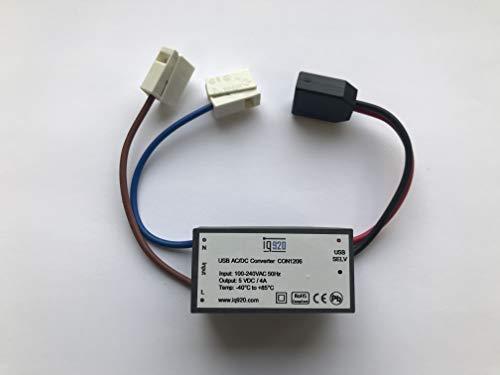 iq920 USB Unterputz Netzteil 4A, zur Stromversorgung von Tablet Buchse UP CON1206