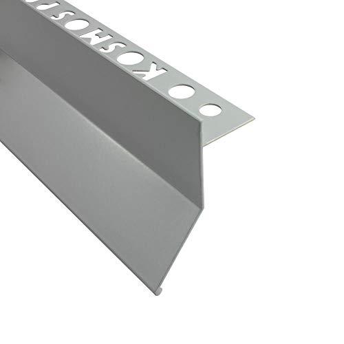 Alu L-Profil Balkon Terrasse abtropf Fliesenschiene Profil Schiene L300cm 10mm grau
