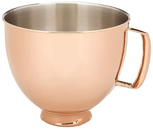 KitchenAid KSM5SSBRC 5 Quart Tilt-Head Metallic Finish Stainless Steel Bowl, Radiant Copper