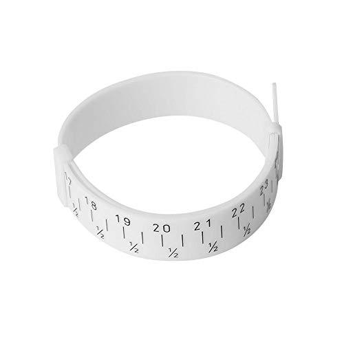 Pols meetinstrument afmetingen, kunststof meetinstrument grootte, sieraden armband polsband meten, grootte gereedschap meetliniaal