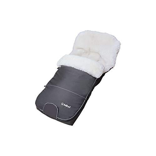 Fellhof Black & White Edition - Saco de piel para bebé,