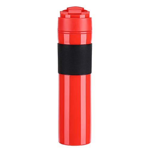 Przenośny mini ekspres do espresso francuski kubek do kawy podróżnej, ręczny ekspres do kawy pod ciśnieniem kompaktowy ręczny ekspres do kawy (czerwony)