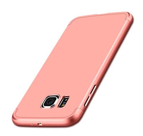 Alsoar Compatibile/Sostituzione per Galaxy S6 Edge Plus Cover Protettiva Galaxy S6 Edge Plus Custodia 2 in 1 Design Ultra-Thin Sottile Antiurto e AntiGraffio Anti-Fingerprint Skid Fade PC (Oro Rosa)