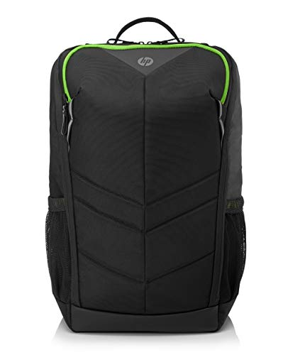 HP Pavilion Gaming Backpack 400 for Laptops up to 15-inch Diagonal (Black/Acid Green, 6EU57AA)