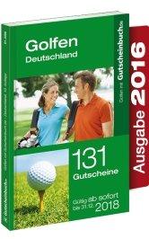 Gutscheinbuch Golf Deutschland 10. Auflage - gültig ab sofort bis 31.08.2018