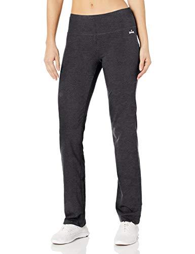 Spalding Women's Long Yoga Pant, Charcoal Heather, Medium