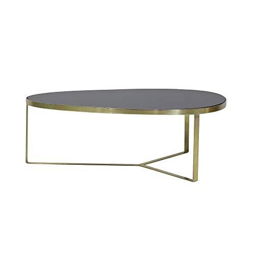 Light & Living Salontafel 118x89x40 cm TURBI glas zwart-mat brons