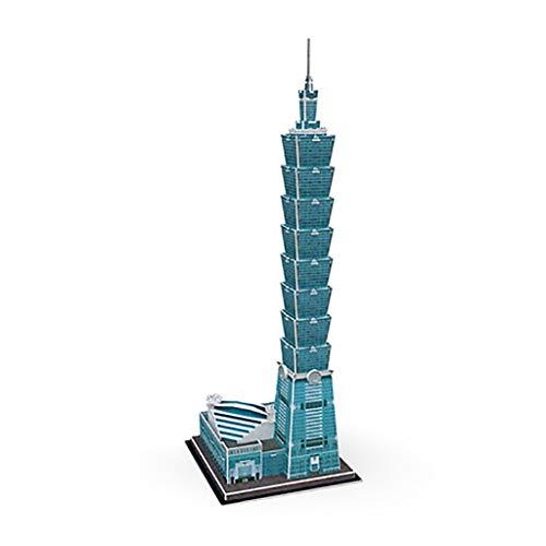 3D Rompecabezas Juguetes De Bricolaje Edificio Taipei 101 Simulación De Juntas De Construcción Modelo Hijos Adultos