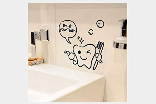 Pegatinas de pared de dormitorio pegatinas de pared de pvc extraíbles lavabo baño decoración de vidrio dibujos animados divertidos pegatinas de pared 19,3 * 17,1 cm