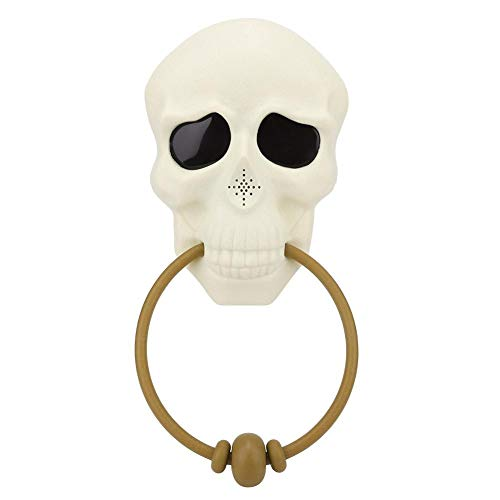 Cafopgrill Halloween Schedel Horrible Deurbel Home Party Decoration Rekwisieten Festival Ornament, 11,8 x 5,5 inch