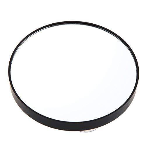 MHBY Miroir de Maquillage, Mur de Miroir en Verre grossissant 10X Petit Miroir de Maquillage Compact Rond avec Deux ventouses/Miroir à Ventouse Loupe Miroir cosmétique Loupe